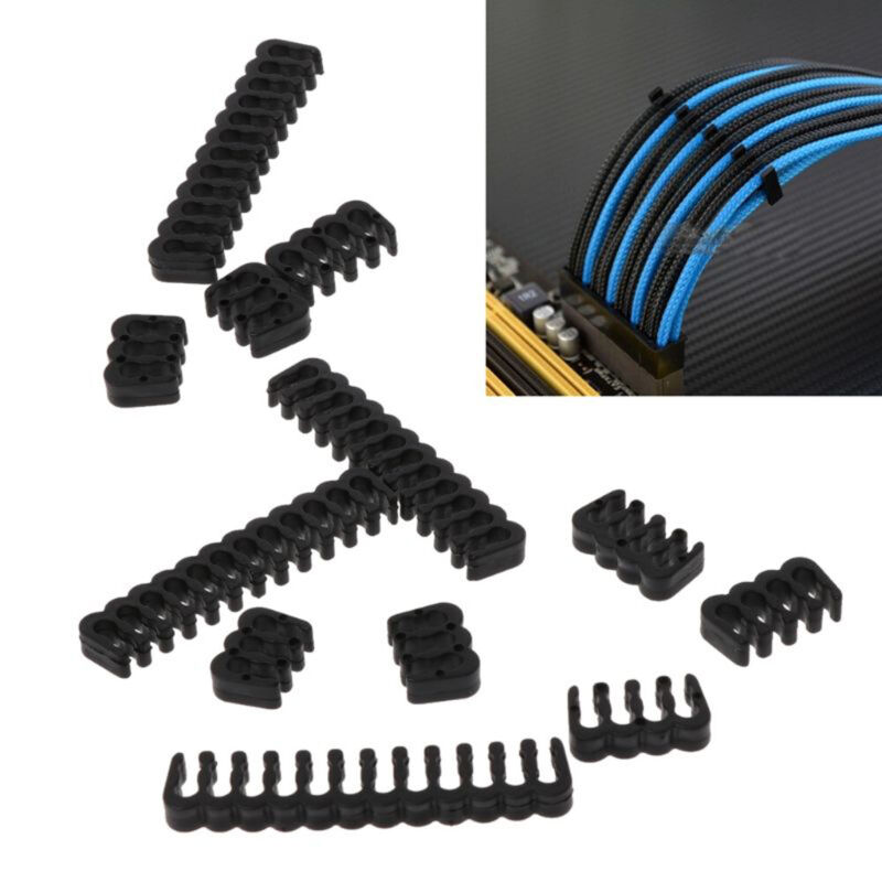 Acrylic Wire Holder Cable Comb Clamp Clip for 8pin//24pin OD 2.5-3.0mm Black
