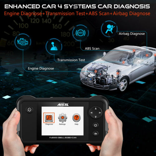 Automotive OBD2 Scanner ABS SRS Airbag Transmission Engine Diagnostic Scan Tool