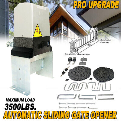 Automatic Driveway Gate Openers - 3500 lbs! Electric Sliding Gate Opener Automatic Driveway Operator Remote 110V