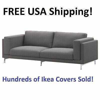 Ikea Nockeby Sofa  3 Seat 99   Cover Slipcover Risane Gray New  Sealed