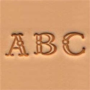 Fancy Alphabet Leather Stamp Set - 3 8