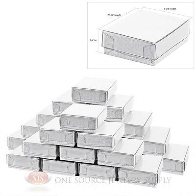 """25 White Swirl Clear View Top Jewelry Gift Boxes 2 1/8"""" x 1 5/8"""" Charm Ring Box"""
