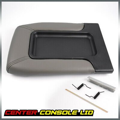 Center Console For 99-07 Chevy Silverado GM Part Lid Arm Rest Latch Light Grey
