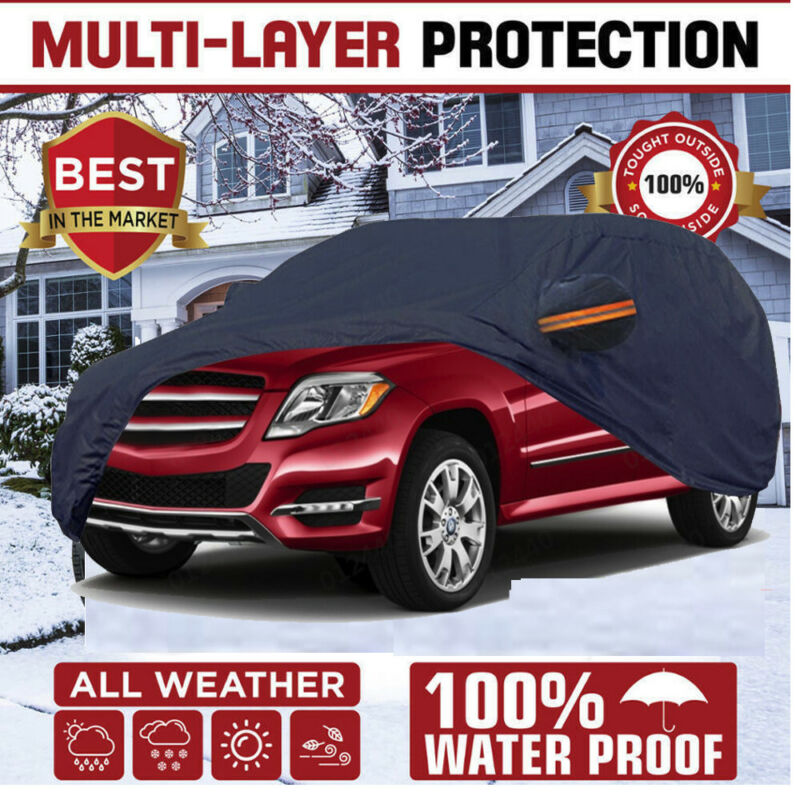 Car Cover Waterproof Fit Acura Outdoor Cotton Inlay Multi-Layer Lining