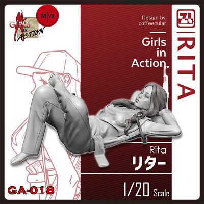 ZLPLA Genuine 1/20 Rita Girls in Action Resin Figure Assembly Model Kits GA-018