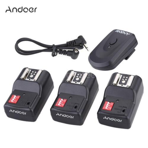 Andoer 16 Channel Wireless Remote Flash Trigger Set 1+3+1 for Canon Nikon DSLR