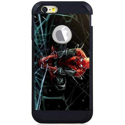Iphone 6S/6S Plus/7/7 Plus Hybrid Case Cover Spiderman Web Drawing H