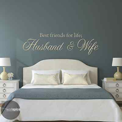 Best Friends For Life Husband And Wife Vinyl Wall Decal (Best Friends Wall)