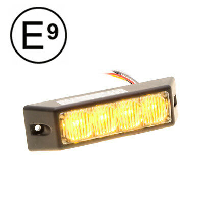 4LED Frontblitzer 12V/24V - Orange - ECE-Zertifiziert - Straßenräumer