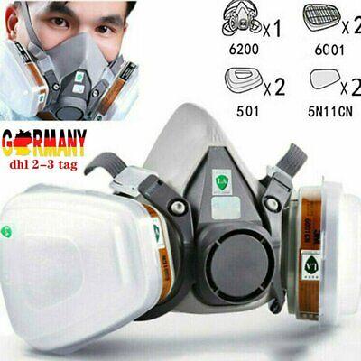 7in1 Lackiermasker Staubmaske Atemschutzmaske für Lackierpistole Lackschutz DE