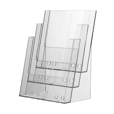 A4 Leaflet Holder 3 Tier Brochure Flyer Stand Counter Top Leaflet Dispenser