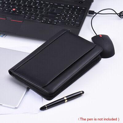 A5 Business Portfolio Padfolio Folder Document Organizer Case Pu Leather Y4y4