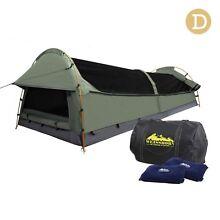 Camping Canvas Swag Tent Celadon w/Air Pillow - Double size Brisbane City Brisbane North West Preview