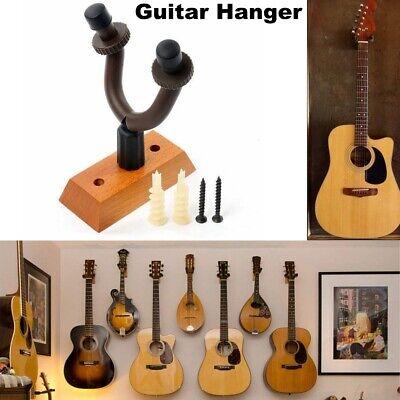 Guitar Wooden Wall Hanger Holder Stand Rack Hook For Bass Violin Banjo Ukulele