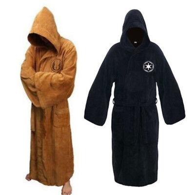 Star Wars Men Bath Robe Jedi Sith Hooded Bathrobe Pajamas Cloak Gown Coat Thick