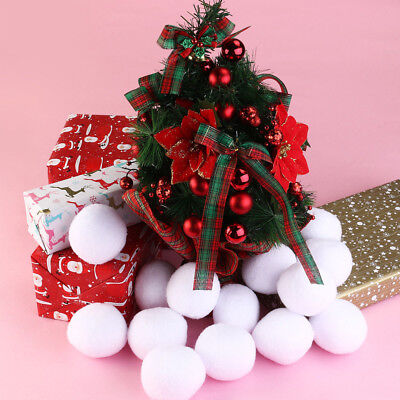 Artificial Fake Soft Snow Balls DIY Chrismas Xmas Tree Party Playing Game Decor
