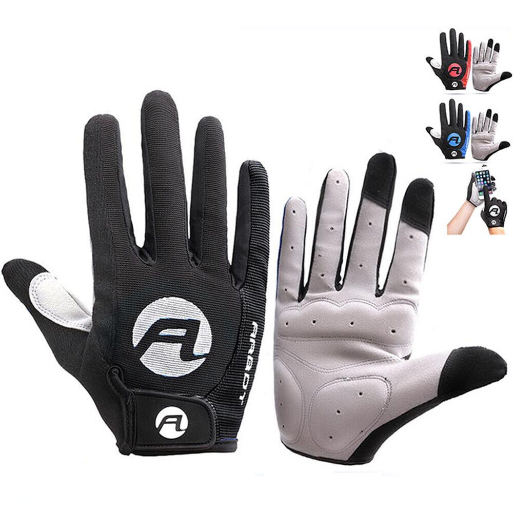 Cycling Gloves Full Finger Bicycle Gloves Anti Slip Gel Pad