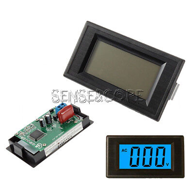 AC 80-500V 2-wire 3 1/2 Blau LCD Panel Meter Voltage Power Supply Lcd-panel-meter