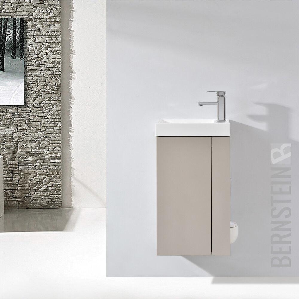 Badmöbel Set Badezimmer Unterschrank Waschtisch Badschrank Gäste WC Waschbecken