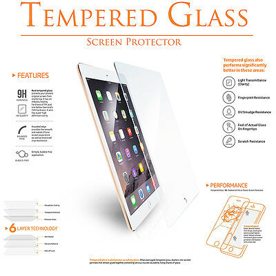 Premium Tempered GLASS Screen HD Protector for iPad 2 3 4 Air Mini 7.9 Pro 9.7