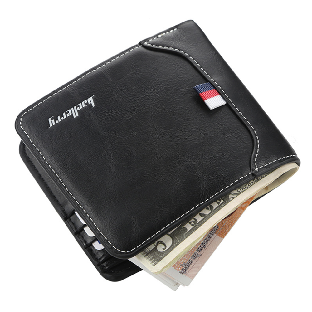 New Mens Trifold PU Leather Wallet Billfold Credit Card Window ID Holder Case