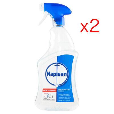 2 Napisan Spray Igienizzante Disinfettante Superfici classico 750ml