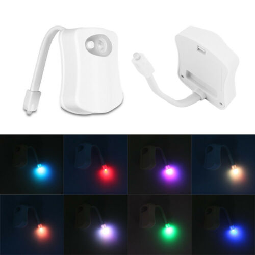 Bathroom Lighting Motion Sensor: Corlor Change LED Toilet Bathroom Night Light Motion