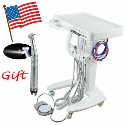 Portable Dental Delivery Unit Work Air Compressor Machine Cart Led Handpiece