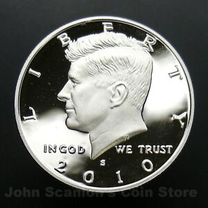 2010-S Kennedy Half Dollar 90% Silver - Gem Proof Deep Cameo U.S. Coin