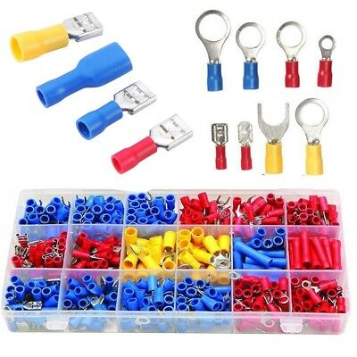 10 Awg Electrical Wiring (520Pcs Crimp Terminals Set Insulated Electrical Wiring Connector Kits 22-10)