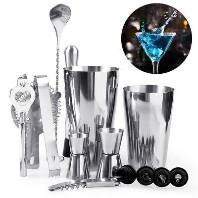 14PCS Pro Cocktail Shaker Set Drink Maker Mixer Bar Tool Martini Bartender Kit - Martini Shaker Set
