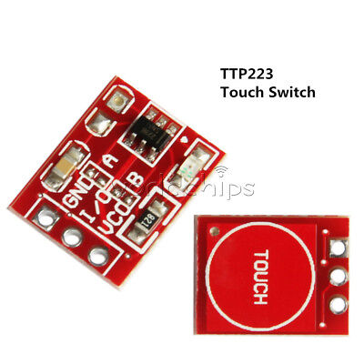5pcs Ttp223 Capacitive Touch Switch Button Self-lock Module Sensor For Arduino