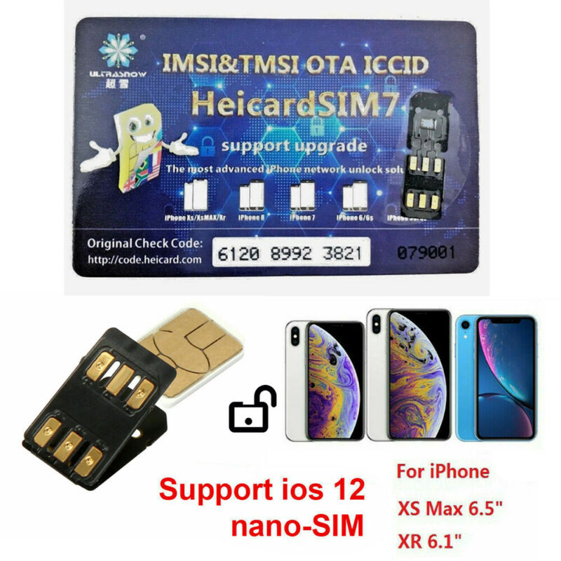 Newest Heicard Unlock Turbo SIM Card Nano-SIM for iPhone XR XS Max iOS 14.3 GPP