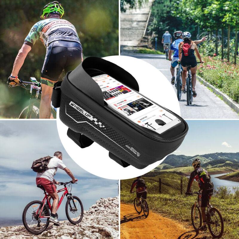Fahrrad Rahmentasche Handyhalter Fahrradtasche Für Handy bis 6.5 Zoll Wasserdich