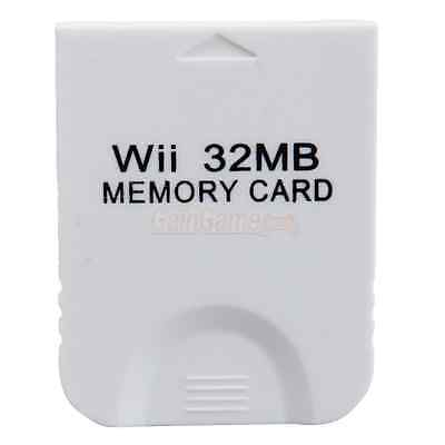 New 32 MB MEMORY CARD FOR NINTENDO WII GAMECUBE GAME