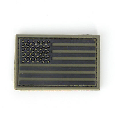 Condor USA Flag PVC Morale Patch Hook and Loop - OD Green NEW