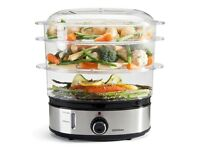 Sensio Home Stainless Steel 3Tier Vegetable Steamer for Cooking with Timer