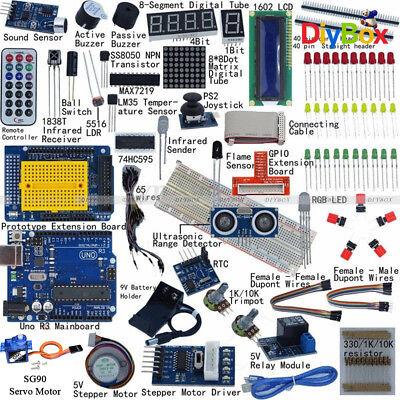Ultimate Starter Kit For Arduino Uno R3 Lcd 1602 Servo Motor Relay Rtc Led