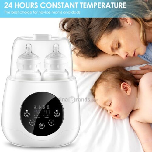 6in1 Baby Bottle Warmer Steam Sterilizer Baby Food Heater Breast Milk Formula US Baby