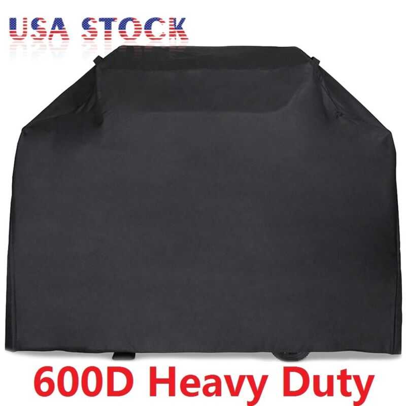 """58"""" 64"""" 70"""" 72"""" BBQ Grill Gas Barbecue Cover Waterproof 600D Heavy Duty"""