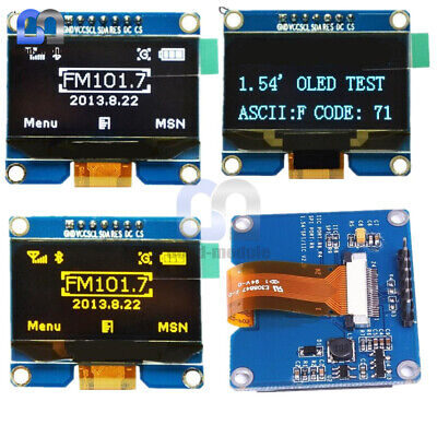 1.54 Inch Oled Display Ssd1309 Module 12864 Spi Interface Whiteblueyellow