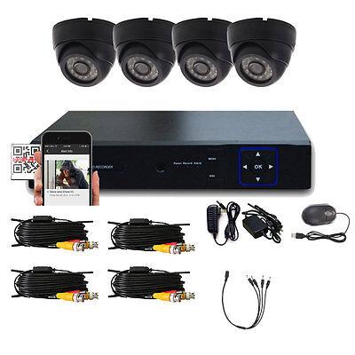 New 4CH HD 1300TVL HDMI 960H CCTV DVR Outdoor IR-CUT Camera Home Security System