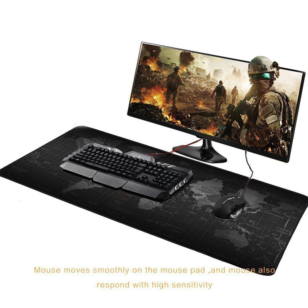 TAPPETINO MOUSE TASTIERA PC COMPUTER PAD MAPPAMONDO XXL 90 X 40 CASA UFFICIO