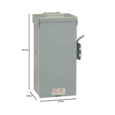 Power Transfer Switch Non Fused Emergency 100 Amp 240-volt Run Backup Generator