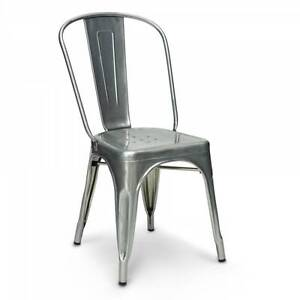 set 4 * Tolix Chair (black, white, metal) Hornsby Hornsby Area Preview