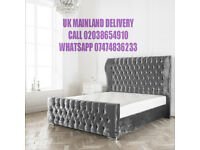 WINGED HEADBOARD FRAME ON SALE WITH MATTRESS gj