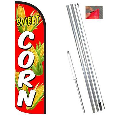 Sweet Corn Windless-style Feather Flag Bundle 14 Or Replacement Flag Only 11.5