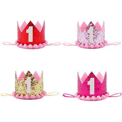 Baby Girl boy kids First Birthday Headband Crown 1 Year Old Princess Hairband - 1 Year Old Birthday Party Supplies
