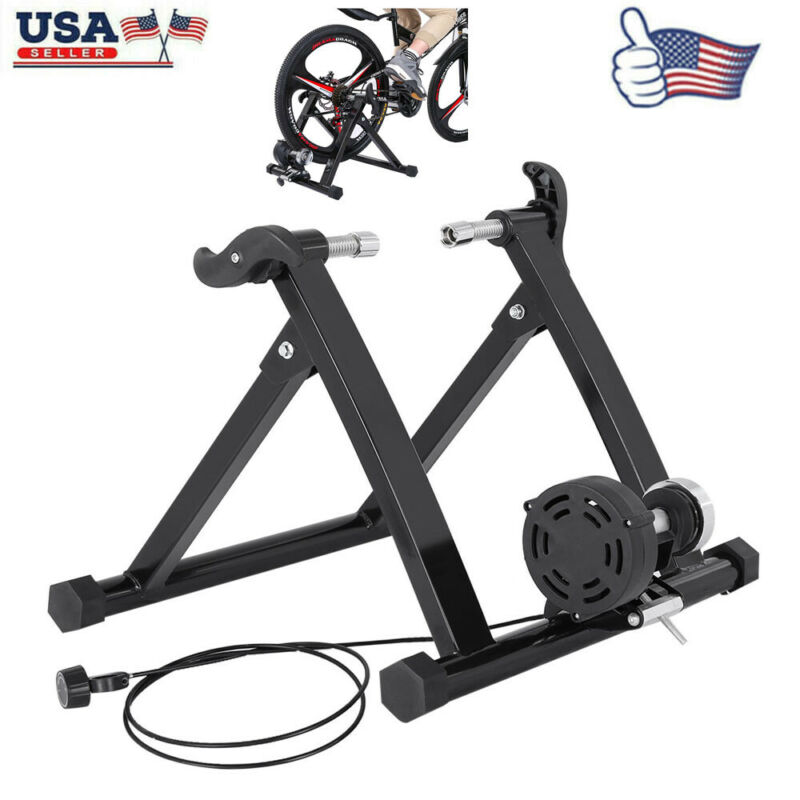 Front Bike Trainer Stand Steel Bicycle Exercise Magnetic Sta