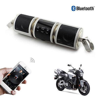 Waterproof Motorcycle Bluetooth Audio Radio Stereo Sound System Speakers FM USB